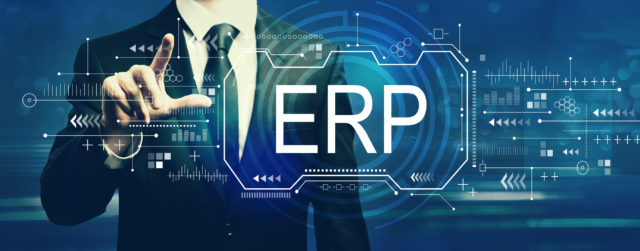 Enterprise resource planning with businessman - Finance House